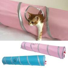 Collapsible Cat Tunnel Stripe Button Connection Two Suspend Balls For Kitten Fun