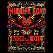 Thunder Road Motor Oil Highway To Hell Devil Motorcycle Biker T-Shirt Tee