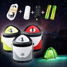 Rechargeable 5000Lumens Collapsible LED Camping Lantern USB Light +18650 Battery