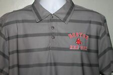 Boston Red Sox Polo 3 Button  Genuine Authentic MLB Gray Gravity  Sox Logo  NEW