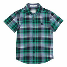J By Jasper Conran Kids Boys' Green Checked Shirt From Debenhams