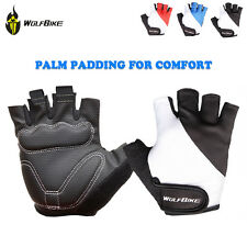 New Fingerless Sports Cycling Gloves Bicycle Half Finger Gel Palm Silicone Mitts