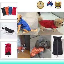 Pet Dog Waterproof Outdoor Raincoat Jacket Coat Fleece Reflective Lined Clothes