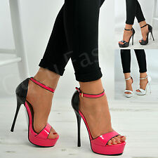 New Womens Ladies Very High Stiletto Heels Platform Sandals Strappy Shoes Size