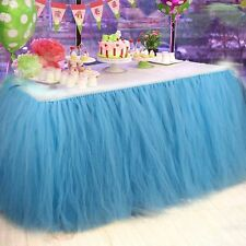 Wedding Table Cloths Table Skirts Handmade Tutu Cover Tulle Birthday Parties DIY