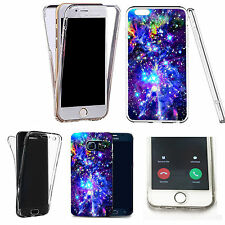 360° Silicone gel full body Case Cover for many mobiles - BLUE SPACE.