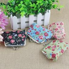 Retro Vintage Style Coin Purse With Bright Flower Print