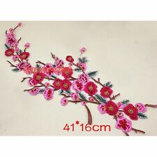 Flower Plum Blossom Iron Sew On Patch Applique Motif Craft Sewing Repair DIY New