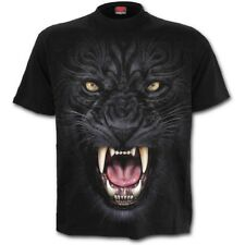 Spiral Tribal Panther Black T-Shirt [Special Order] - Gothic,Goth,Cat   ,Men's,S