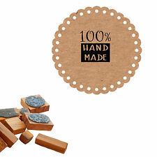 100% Handmade Craft Stamp Olive Wood Mounted/Clear