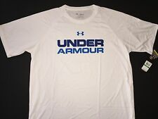 Under armour heat gear T Shirt Big UA Logo loose fit Men's Size L NWT