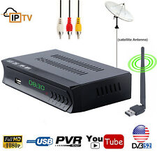 FTA MPEG-4 HD Digital DVB-S2 Satellite Receiver Wifi IPTV TV Tuner PVR Record