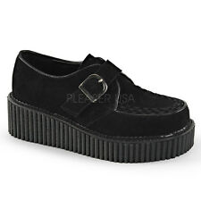 Demonia Creeper-118 Vegan Suede Platform Shoes - Gothic,Goth,Punk,Black,Creepers