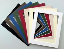 """10 x 8"""" Cardboard Photo/Picture MOUNTS - Choice of colours & cut out sizes"""