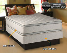 Beddings4Less Double-sided Soft PillowTop Mattress & Low Height Box Spring Set