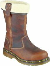 Dr Martens ROSA Womens Ladies Warm Airwair Welted Safety Rigger Boots Teak Brown