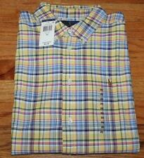 NWT Polo Ralph Lauren Boys Long Sleeve Oxford Dress Shirt Madras-Style Plaid *4D