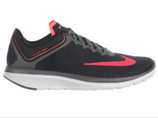 NEW WOMENS NIKE FS LITE RUN 4 RUNNING SHOES TRAINERS BLACK / HOT PUNCH / DARK GR