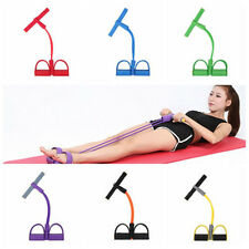 2-Tube Foot Pedal Pull Rope Resistance Exercise Yoga Sit-up Fitness Equipment R