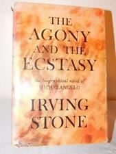 THE AGONY AND THE ECSTASY SIGNED BY IRVING STONE HC/DJ 1961 Author Autographed