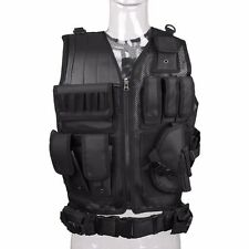 Body Armor Swat Combat Vest Hunting Molle Airsoft-Vest Outdoor Painball Black