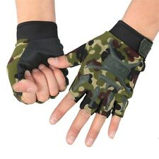 Gloves Half Finger Cycling Bicycle Sports Bike Camouflage Tactical Outdoor Sport