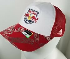 Adidas MLS New York Red Bull's women's Truckers Mesh Cap ONE SIZE SNAP-BACK NWT
