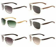 Sunglasses EKO Metal Aviator with Wood Temples, Wooden Sunglasses (WD-2032M)