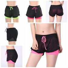 Lady Yoga Running Sport Pants Fitness Trouser Double Layer Jogging Sport Shorts