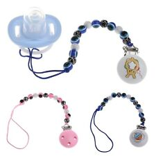 Blue Eye Baby Kids Pacifier Chain Clip Holders Dummy Soother Nipple Strap Gifts