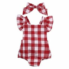Newborn Baby Girls Romper Bodysuit Jumpsuit Outfits Toddler Backless Kid Clothes