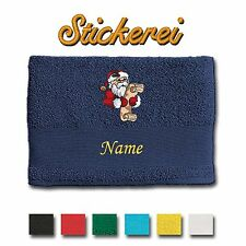 Towel Shower Towel Bath Towel embroidered Embroidery Santa claus + Name