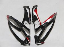 Durable Red/Black Full Carbon Fiber Mountain Bike Water Bottle Cage Road Bicycle