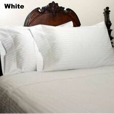 100% Soft Egyptian Cotton 1000TC White Color Stripe  All Size Bedding Collection