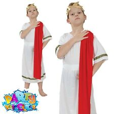Boys Roman Toga Emperor Fancy Dress Costume Caesar World Book Week Day Outfit