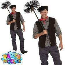 Mens Bert Chimney Sweep Fancy Dress Costume World Book Day Week Outfit