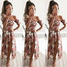 Women's BOHO Long Maxi Evening Cocktail Party Summer Beach Dress Sundress