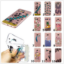 Cute Patterned Slim Clear Soft TPU Rubber Gel Back Case Cover For Mobile Phones