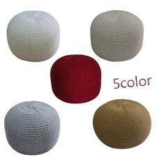 UK 40*40*30CM Large Moroccan Knitted Pouffe Round Footstool Cushion FootStool SA