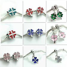 2pcs Silver European Charm BeadS Fit  Necklace Bracelet jewelry DIY #SQ2005