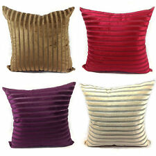 LARGE CUSHIONS CUSHION COVERS SET OF 4 CUT VELVET STRIPE VELOUR CUSHIONS