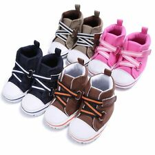 Infant Girls Boys Canvas Baby Sneaker Toddler Soft Sole Prewalker Crib Shoes