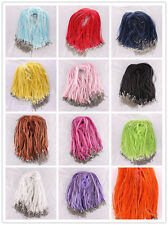LOT 100X Organza Voile String Ribbon Necklace Silk Cords DIY 45+5CM Gift Choose~