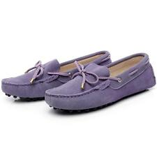 Womens suede leather loafers moccasin slippers driving boat penny shoes with  jg
