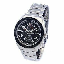 Citizen Eco-Drive Multi-Function Mens Analog Watch Casual Silver Band AP4010-54E