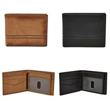Fossil Original Men's Leather Watts Bifold Wallet with Flip ID NEW