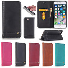 Luxury Magnetic Flip Leather Wallet Card Case Cover For Apple iPhone 6s / 7 Plus
