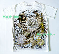 EMPEROR ETERNITY T-Shirt White M L XL JAPANESE KABUKI ONI RED GOLD FOIL TATTOO