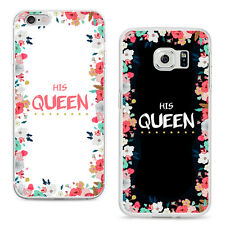 KING QUEEN PHONE CASE COVER FOR SAMSUNG GALAXY S4 S5 S6 IPHONE 6 7 PLUS FABULOUS