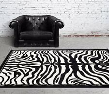 RUGS AREA RUGS CARPET FLOORING 1802 BLACK ZEBRA CARPET LARGE NEW AREA RUG